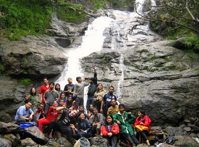 Sankashi waterfall